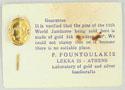 1963 Gold Stick Pin