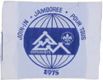 1975 World Jamboree Participant Patch
