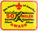 50 Miler Award Decal