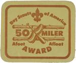 50 Miler Award Leather
