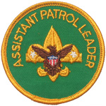 Assistant Patrol Leader 1972 - 75