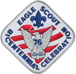Eagle Scout Bicentennial Celebration 1976 Back Patch
