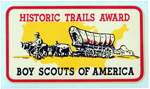 Historic Trails Award Aqua-Cal Decal