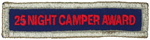 National Camping 25 Night Camper Award