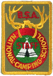 National Camping School STAFF Pocket Patch