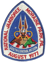 1977 National Jamboree Southcentral Region Back Patch