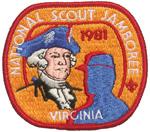 1981 National Jamboree Participant Pocket Patch