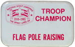 1985 National Jamboree Troop Champion Flag Pole Raising