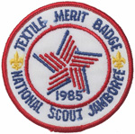 1985 National Jamboree Textile Merit Badge Pocket Patch