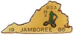 1985 National Jamboree BMX Lapel Pin