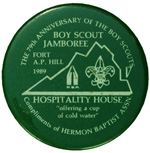 1989 National Jamboree Hospitality House Button