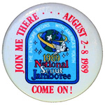 1989 National Jamboree Join Me There Button
