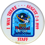1989 National Jamboree STAFF Button