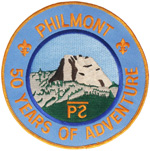 Philmont 50 Years of Adventure 1988 Back Patch