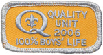 Quality Unit 2006 100% Boy's Life