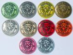 1985 Crater District Back to Basics Camporee 10 Pin Set