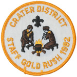 1982 Crater District Gold Rush Staff