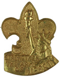 Strengthen the Arm of Liberty - Scout Pin 1950