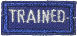 Trained Leader Strip - White Letters